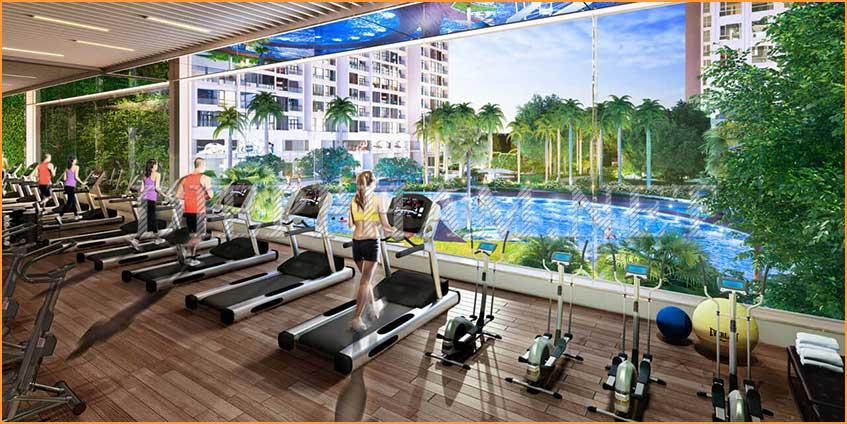 Tiện ích Vinhomes Grand Park phòng Gym hiện đại