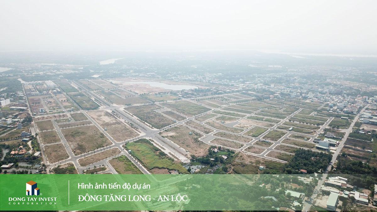 Hình ảnh tiến độ dự án Đông Tăng Long - An Lộc