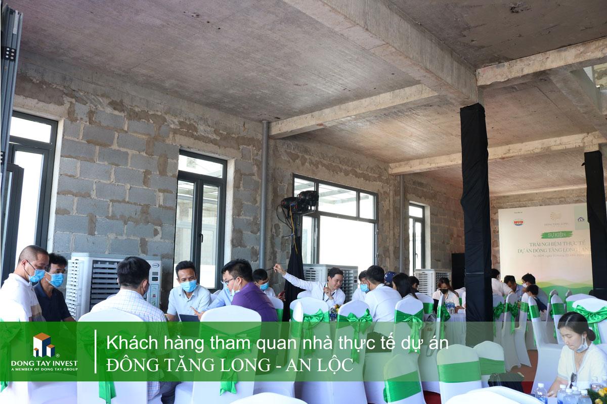 Hình ảnh tại sự kiện tham quan thực tế nhà dự án Đông Tăng Long - An Lộc