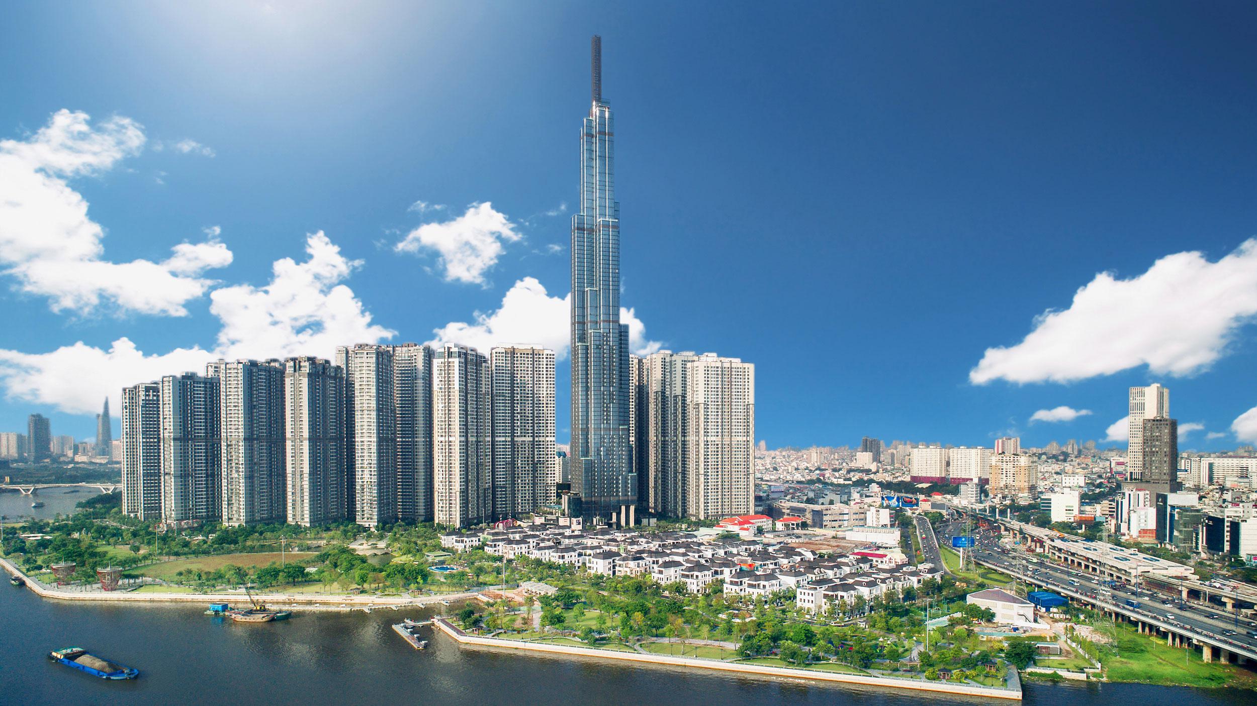 phối cảnh tổng quan thành phố khu đông mới