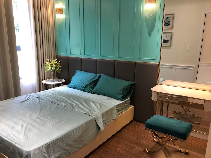 Phòng ngủ nhà mẫu dự án căn hộ chung cư D'lusso Quận 2