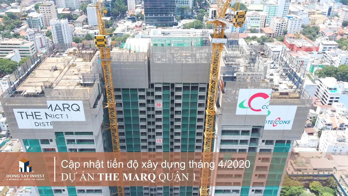 Tiến độ dự án căn hộ The Marq Quận 1