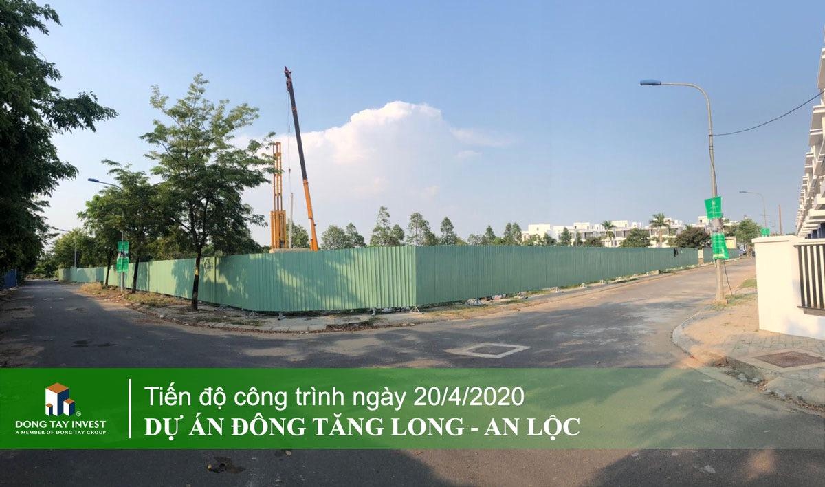 Cập nhật tiến độ mới nhất dự án Đông Tăng Long An Lộc Quận 9 tháng 4/2020
