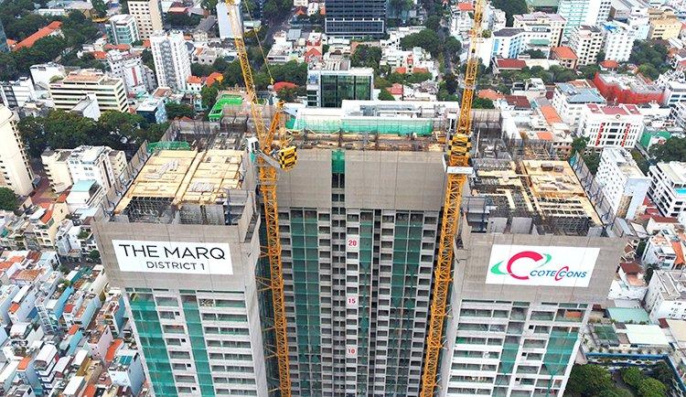 Phối cảnh dự án The Marq Quận 1 đang xây dựng