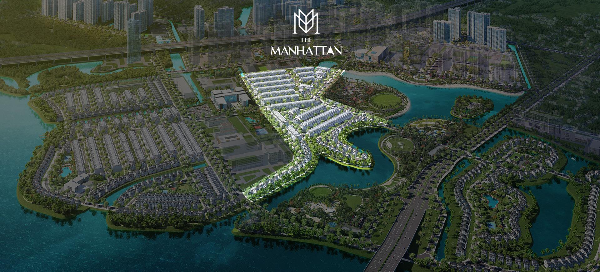 Phối cảnh dự án Manhattan nằm tại vị trí trái tim Vinhomes Grand Park