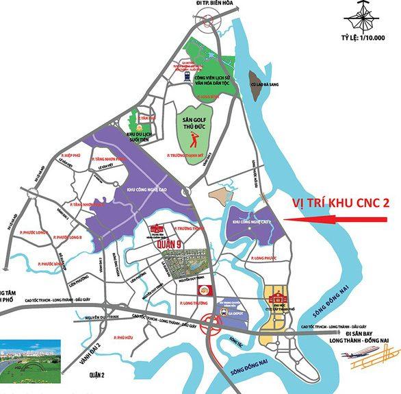 sơ đồ vị trí thành phố thủ đức