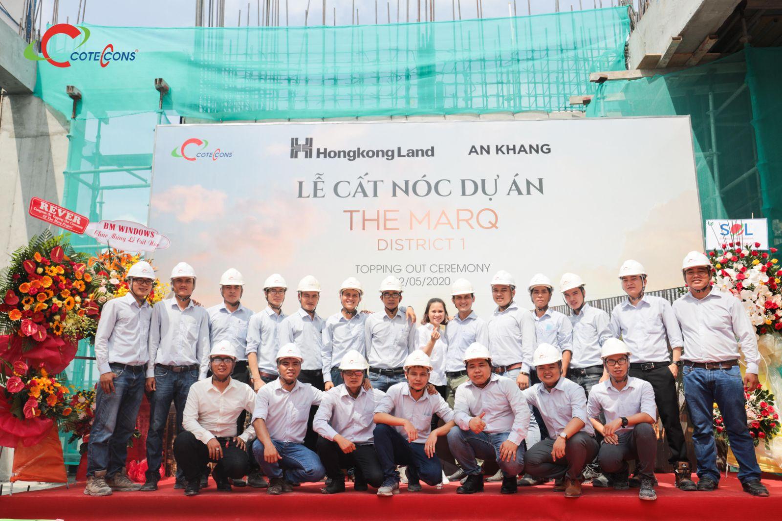 Lễ cất nóc dự án The Marq vào ngày 22/05/2020