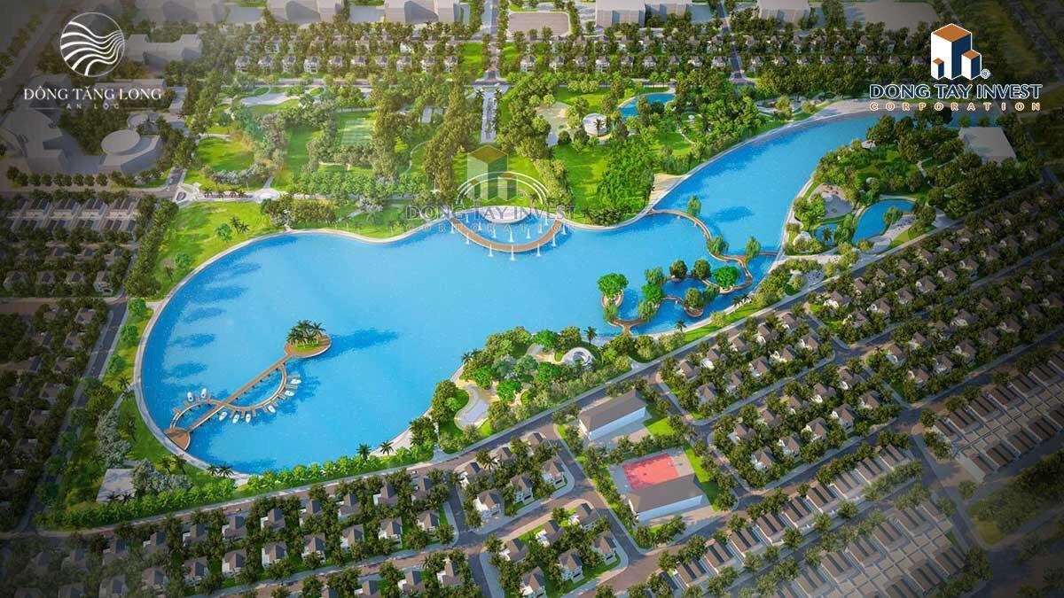 Phối cảnh hồ điều hòa 7ha tại khu đô thị Đông Tăng Long
