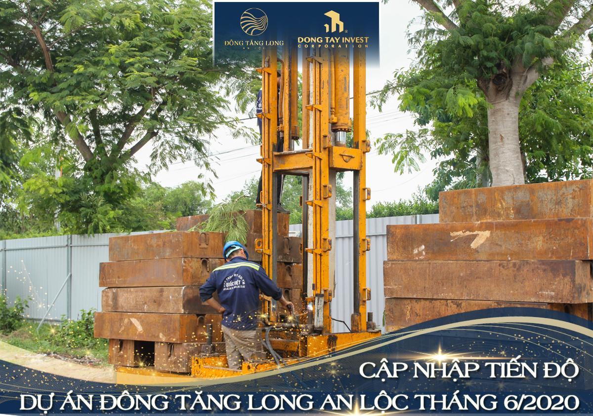 Cập nhật tiến độ mới nhất dự án Đông Tăng Long An Lộc Quận 9 tháng 6/2020