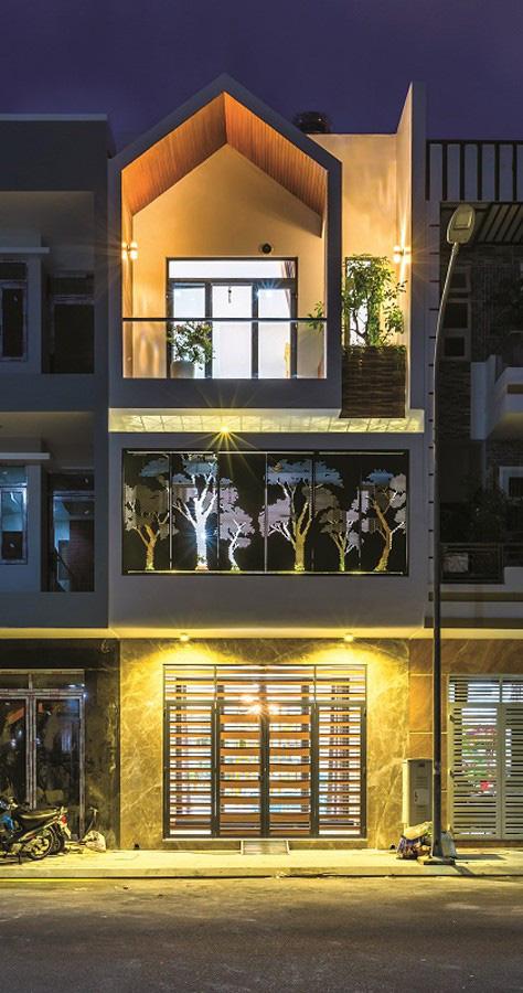Một Phối cảnh thiết kế trước nhà của căn hộ hạng sang
