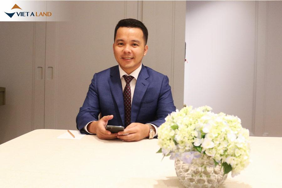 Mr.Chinh - TGĐ Cty CP ĐT Việt Á Land có mặt trong buổi sự kiện
