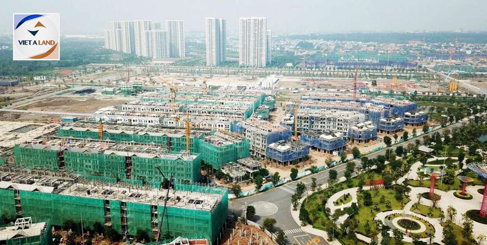 Tiến độ xây dựng nhà phố, biệt thự đại đô thị Vinhomes Grand Park
