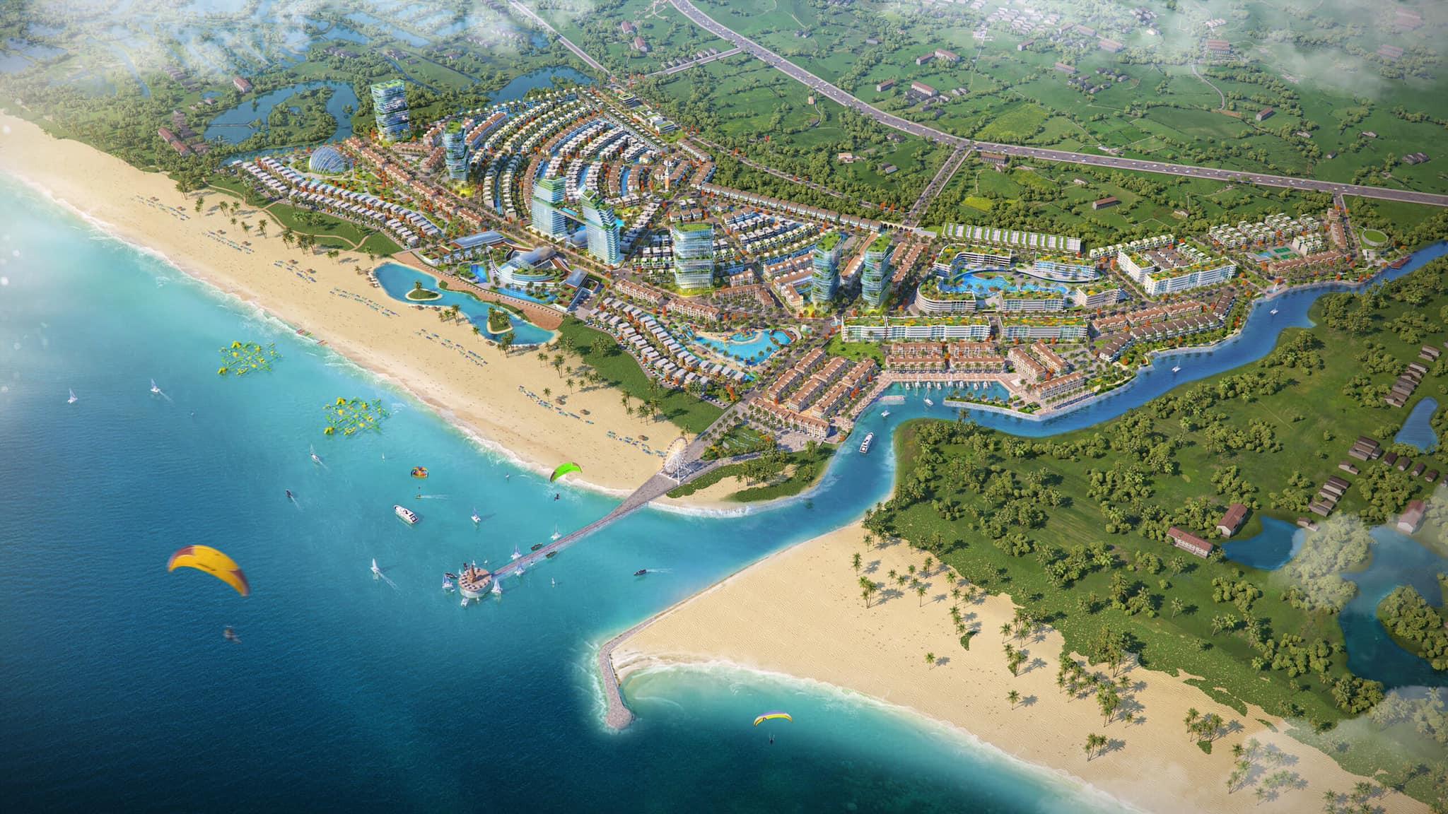 Giai đoạn đầu tiên giới thiệu ra thị trường 681 sản phẩm thấp tầng mặt tiền biển, 6 block căn hộ khoảng 3.000 sản phẩm sở hữu lâu dài